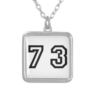Number Seventy Three Silver Plated Necklace