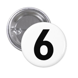 Number Six - The Prisoner 1 Inch Round Button