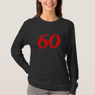 Number Sixty 60th Birthday Gifts T-Shirt
