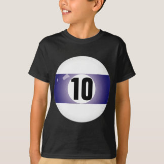 Number Ten Billiard Ball T-Shirt
