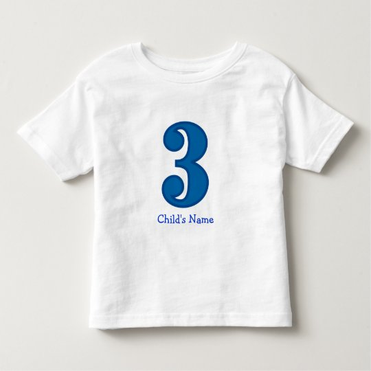 number three boy, Child's Name Toddler T-shirt