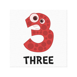 Number Three Gallery Wrap Canvas