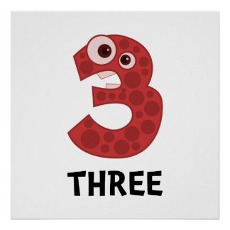 Number Three Poster