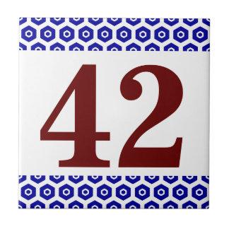 Number Tile hexagonal border
