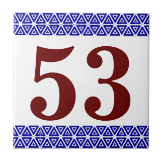 Number Tile triange border