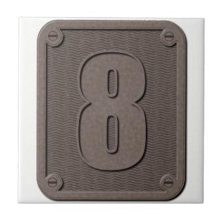 Number Tiles: metal eight Tile