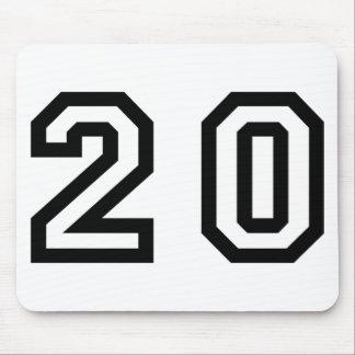 Number Twenty Mouse Pad