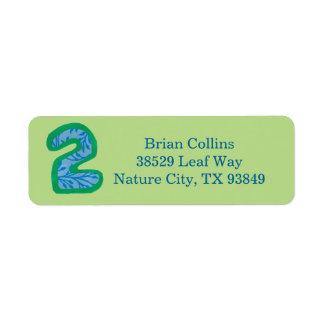 Number Two Label Return Address Label