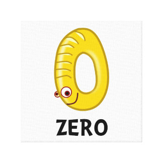 Number Zero Gallery Wrap Canvas