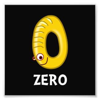 Number Zero Photo Art