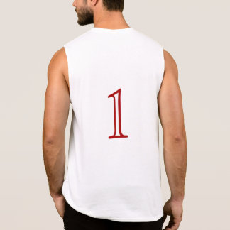 "Numbered ""1"" on back - T-shirt"