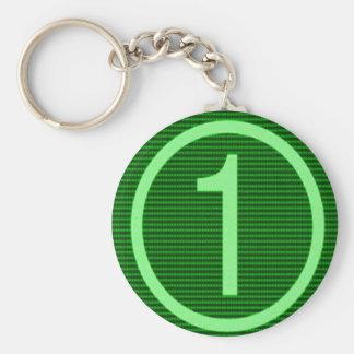 NumberONE Green Marathon Basic Round Button Keychain