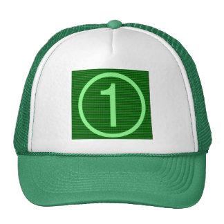NumberONE Green Marathon Trucker Hats