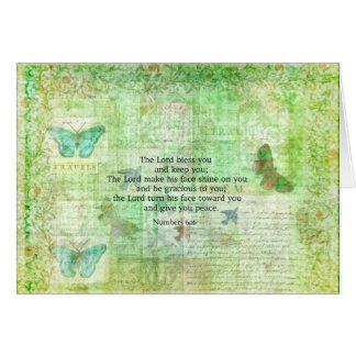 Numbers 6:24-26 Bible Verse Blessing with art Card