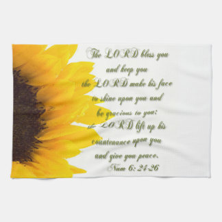 Numbers 6: 24-26 kitchen towel