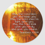 NUMBERS 6:24 BIBLE VERSE - MAY THE LORD BLESS YOU ROUND STICKER