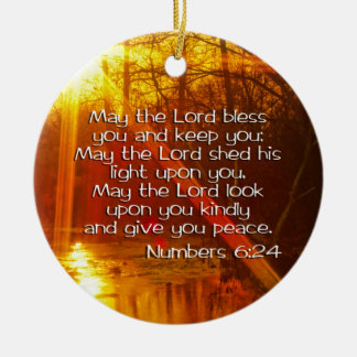 NUMBERS 6:24 ORNAMENT MAY THE LORD BLESS YOU
