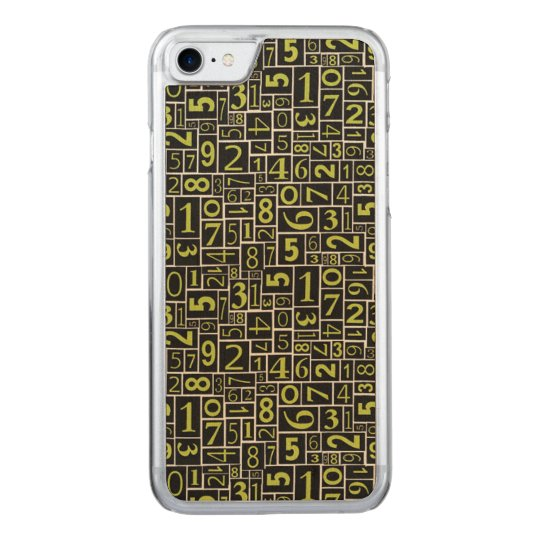 Numbers Carved iPhone 7 Case