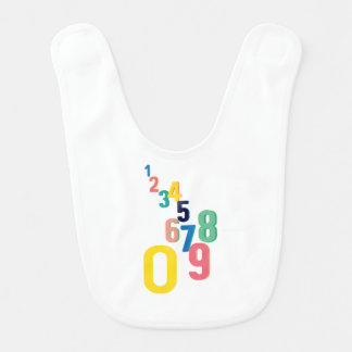 Numbers Collage Bib