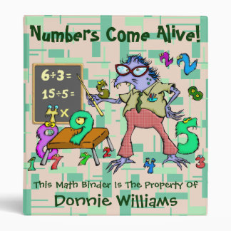 Numbers Come Alive! Vinyl Binders