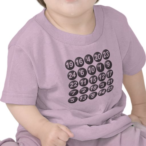 numbers game 1 t shirts