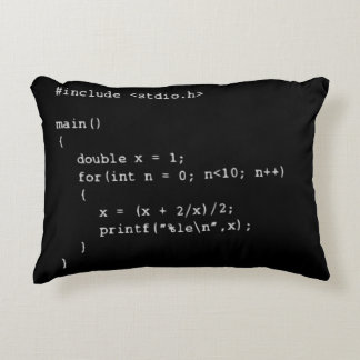 Numerical Programming Decorative Pillow