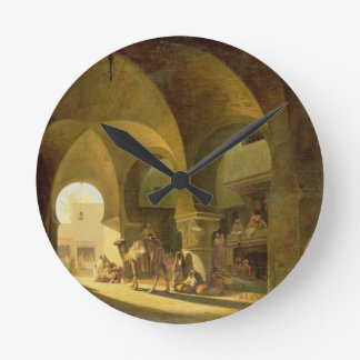 Numerous Figures in a North African Bazaar, 1839 ( Wall Clock