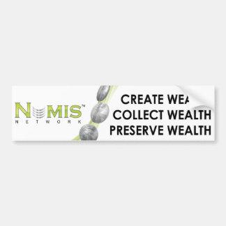 Numis Network Collect wealth bumper sticker