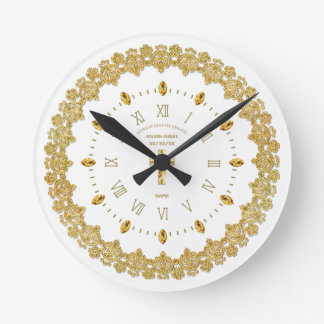 NUN 50th Golden Jubilee Ordained Anniversary Round Clock