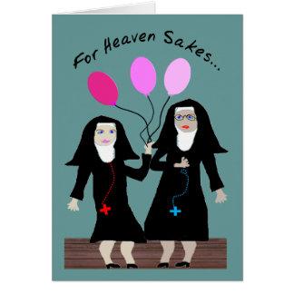 "Nun Birthday Card ""Sister Party Pants"""