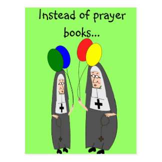 Nun Birthday Gifts Postcard