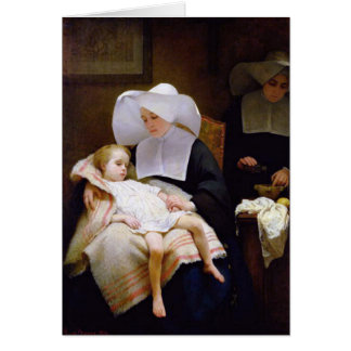 Nun caring for a sick child card
