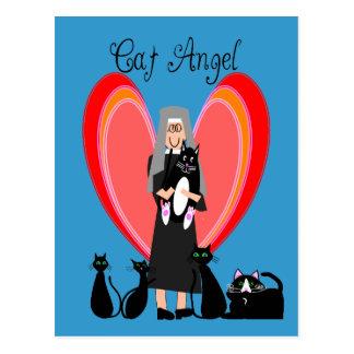Nun Cat Angel Art Gifts Postcard