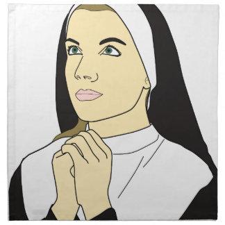 Nun Praying Napkin