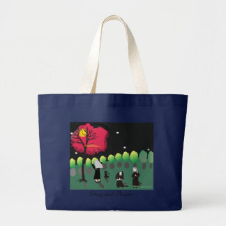 "Nun Tote Bag ""Midnight Prayers in the Garden"""