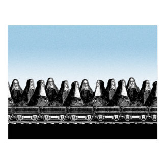 Nun Train Postcard
