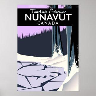 Nunavut Canada Travel poster