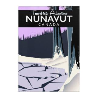 Nunavut Canada Travel poster Acrylic Wall Art