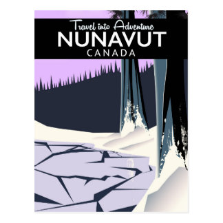 Nunavut Canada Travel poster Postcard