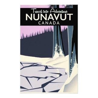 Nunavut Canada Travel poster Stationery