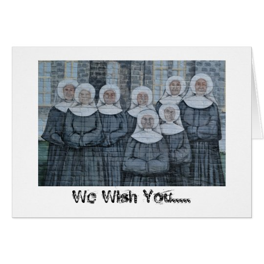 Nuns at Mercyhurst College Card