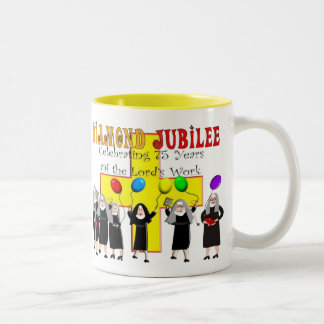 Nuns Diamond Jubilee 75th Year of Service Two-Tone Coffee Mug