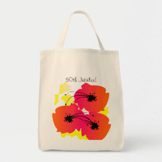 Nuns Golden 50th Jubilee Tote Bag Big Flowers