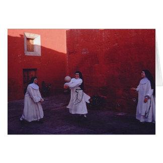 nuns having fun! card