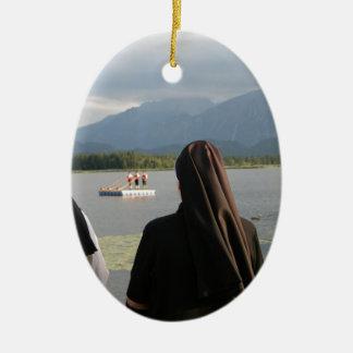 Nuns in Bavaria Ceramic Oval Ornament