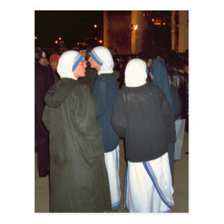 Nuns of the Order of Mother Theresa Postcard