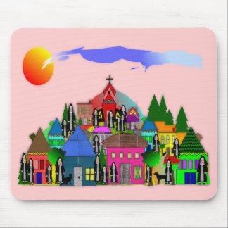 """Nuns of the Village""  Catholic Nun Art Gifts Mouse Pad"