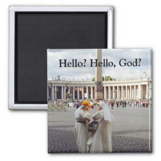 Nuns on the phone Magnet