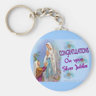 Nuns Silver Jubilee Gifts and Cards Keychain