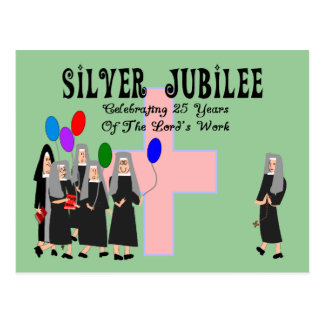 Nuns Silver Jubilee Gifts Postcard